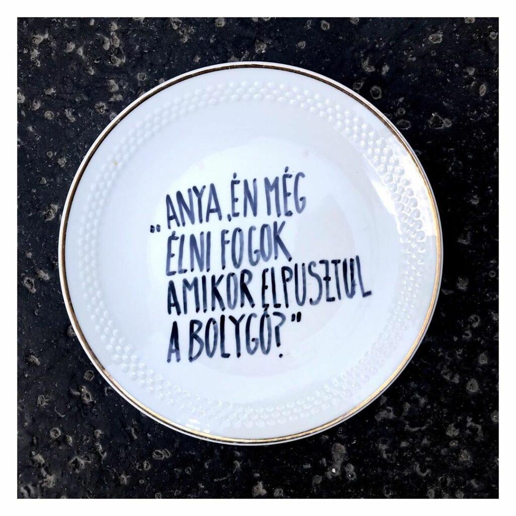 fenntarthatóság - Hitka Viktória porcelán tányér